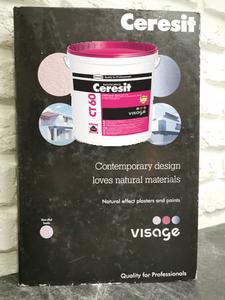 Ceresit СТ 60 VISAGE Польша. Декоративная акриловая штукатурка