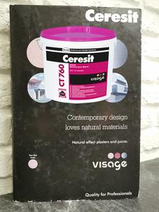 """Ceresit СТ 760 VISAGE Польша. Декоративная штукатурка с эффектом """"Архитектурный бетон"""""""